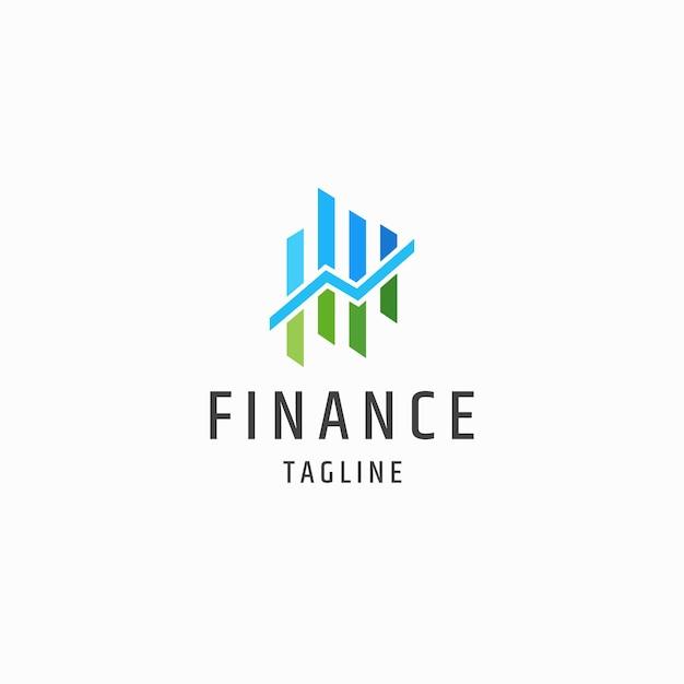 Finanzen finanzlogo icon design template flacher vektor