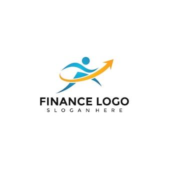 Finanzen und gesundheit logo vorlage