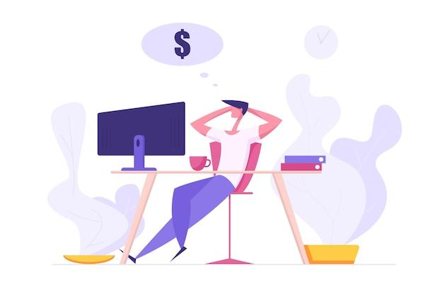 Finanzgeschäft big dreams concept illustration