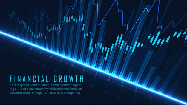 Finanzielle abstrakte blaue vorlage