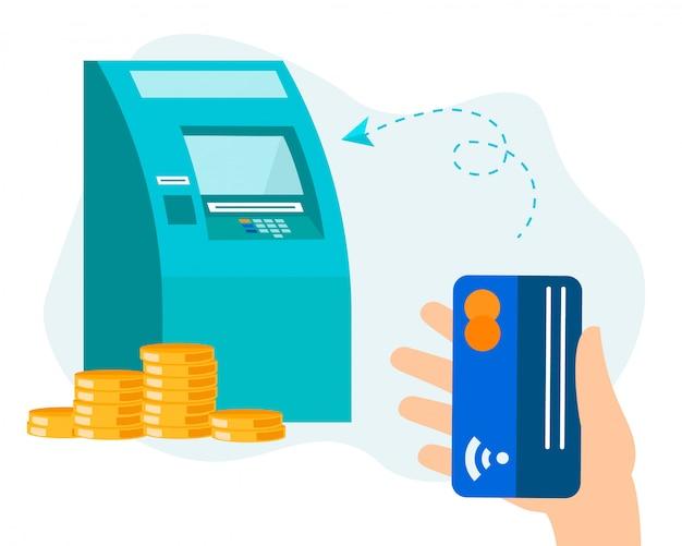 Finanzielle bankgeschäfte über geldautomaten