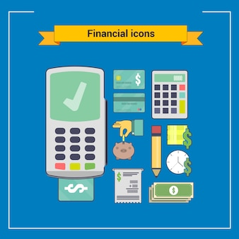 Finanzielle icon-set