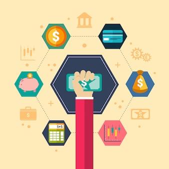 Finanzielle konzept illustration