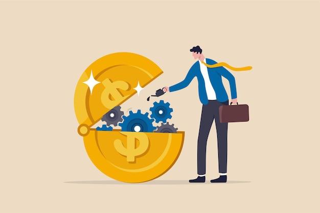 Finanzielle oder geldliquidität zur unterstützung wirtschaftlicher impulse.