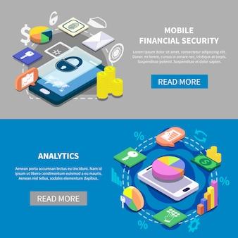 Finanzielle sicherheit banner set