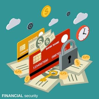 Finanzielle sicherheit vektorkonzept