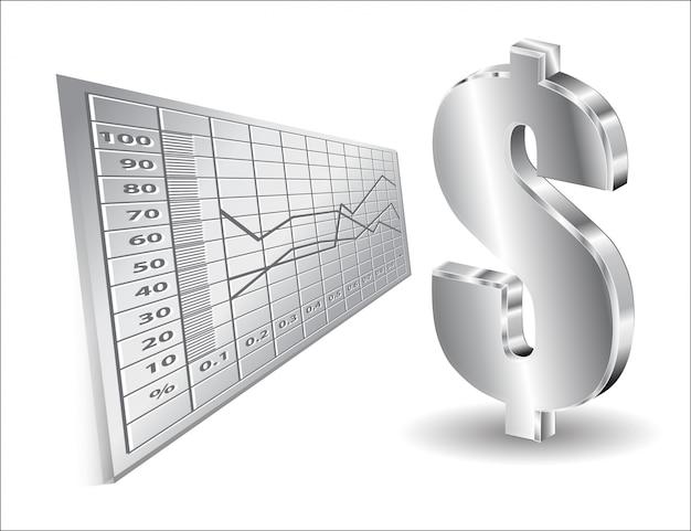 Finanzieller hintergrund mit dollar