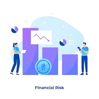 Finanzielles risiko illustrationskonzept.