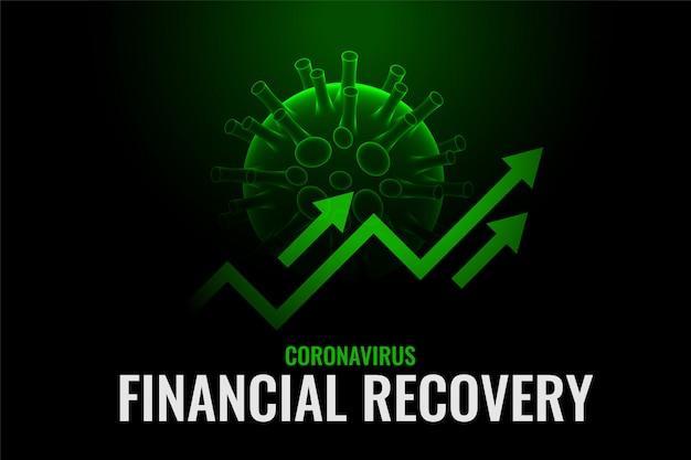Finanzielles wachstum und erholung nach der heilung des coronavirus