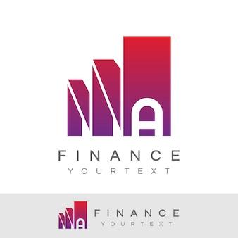 Finanzieren sie anfangsbuchstaben a logo design
