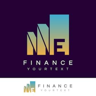 Finanzieren sie anfangsbuchstaben e logo design