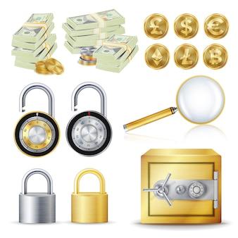 Finanzieren sie sicheres konzept