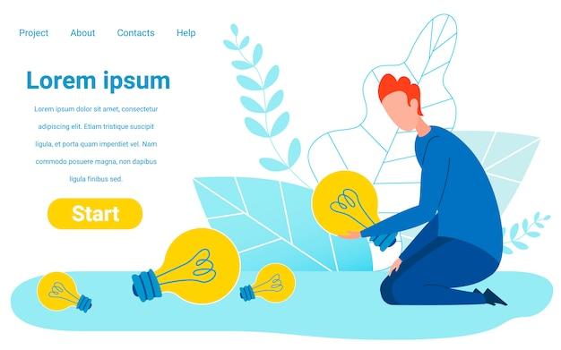 Finanzierung, abstimmung für die besten ideen website-vorlage