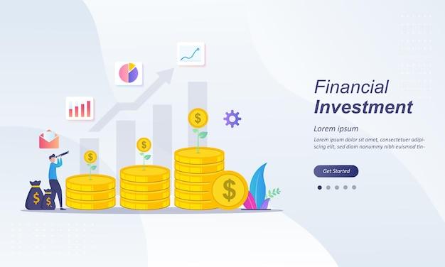 Finanzinvestitionskonzept Premium Vektoren