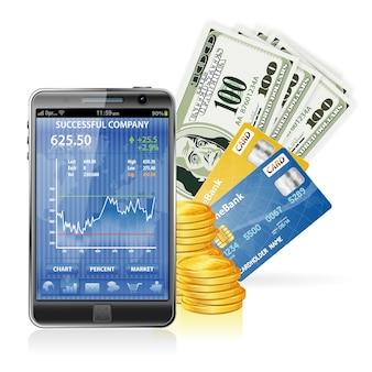 Finanzkonzept - geld verdienen im internet