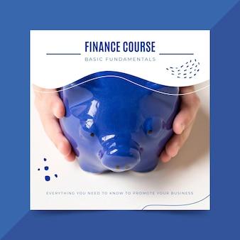 Finanzkursvorlage Kostenlosen Vektoren