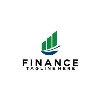 Finanzlogovorlage buchhaltungslogokonzept