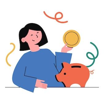 Finanzplanung, sparen, investieren.