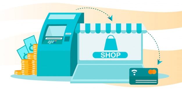 Finanztransaktionssystem und online-shopping