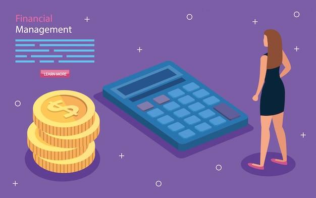 Finanzverwaltung mit frau