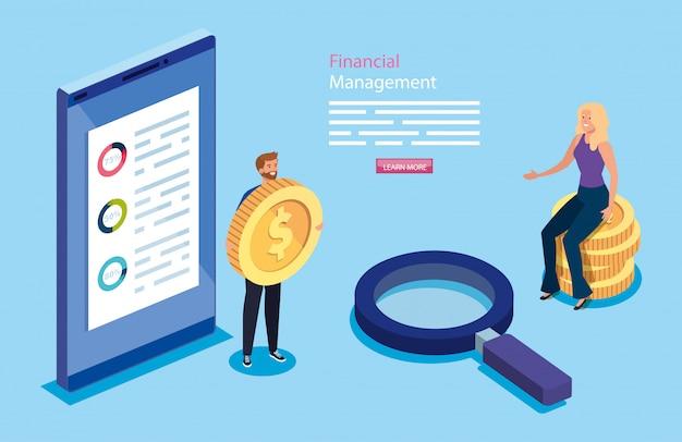 Finanzverwaltung mit paar