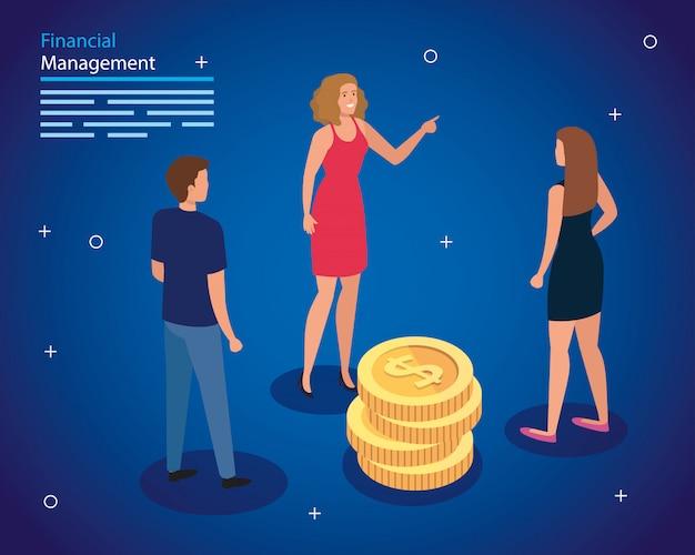 Finanzverwaltung mit personen- und stapelmünzen