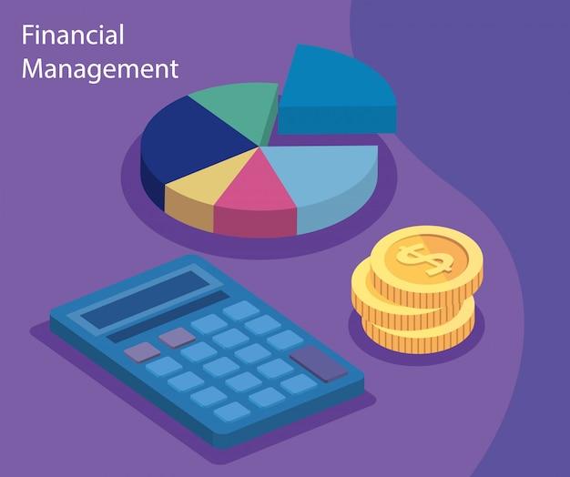 Finanzverwaltung mit taschenrechner