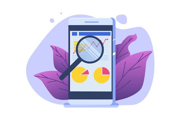 Finanzverwaltung, prüfer, prüfungskonzept. unternehmenssteuer und konto. vektor-illustration