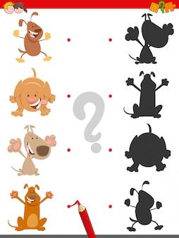 Finde das schatten-lernspiel für kinder