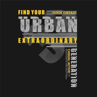 Finde dein außergewöhnliches urban graphic fashion typography t-shirt print casual style