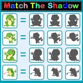 Finde den richtigen Schatten des Frosches