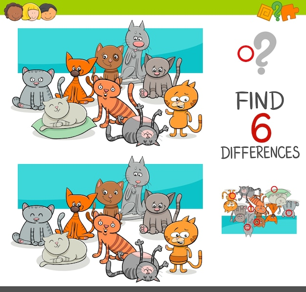 Finde die unterschiede mit katzen oder kätzchen