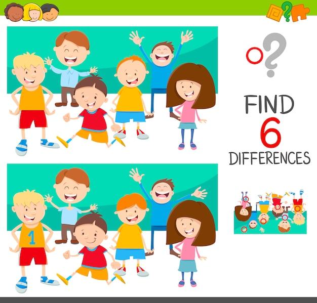 Finde die unterschiede mit kindern