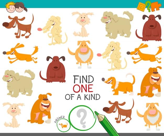 Finde ein einzigartiges bilderspiel mit hunden