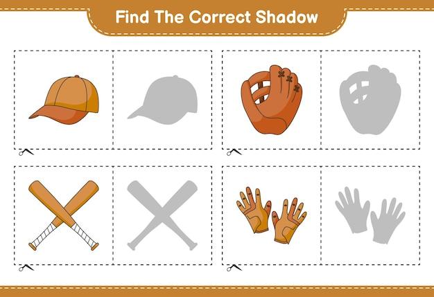 Finde und kombiniere den richtigen schatten von baseball glove golf gloves cap hat und baseball bat