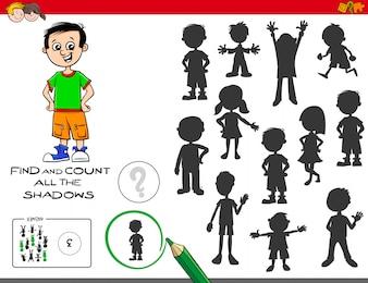 Finde und zähle die pädagogische Aufgabe der Schatten