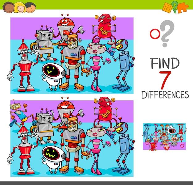 Finde unterschiede zu roboterfiguren