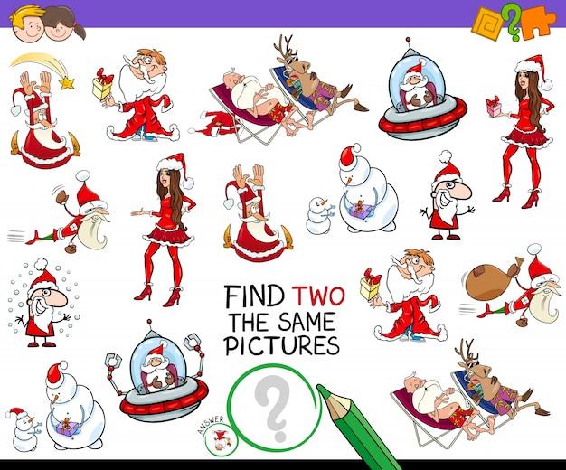 Finde zwei gleiche weihnachtsbilder