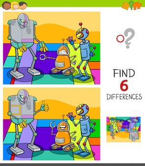 Finden des unterschiedspiels mit robotercharakteren