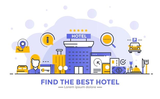 Finden sie das beste hotelbanner