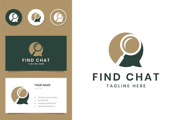 Finden sie das design des chat-negativ-space-logos