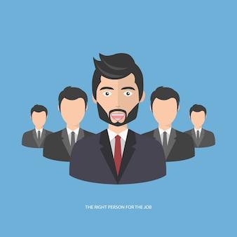 Finden sie die richtige person für den job