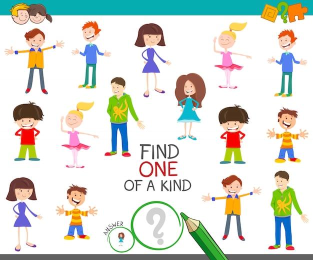 Finden sie ein einzigartiges bilderlernspiel mit kindern