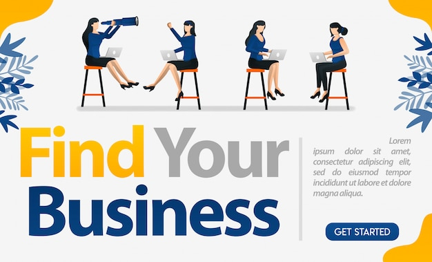 Finden sie ihr business-design mit illustrationen von arbeitnehmerinnen, die von angesicht zu angesicht arbeiten
