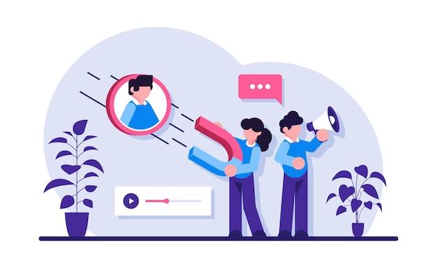 Finden sie neue kunden content creation sales funnel generieren sie sales leads digitale marketingstrategie