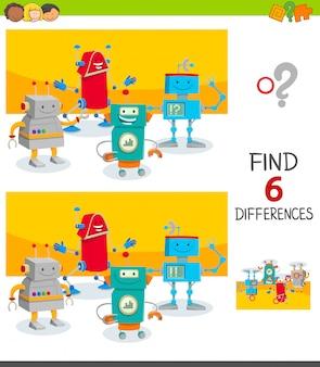Finden sie sechs unterschiede zwischen bildern lernspiel