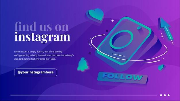 Finden sie uns auf instagram banner
