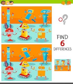 Finden sie unterschiede zwischen bildern spiel für kinder