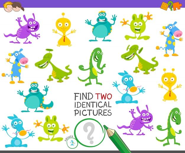 Finden sie zwei identische bilder spiel für kinder