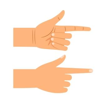Finger zeigen geste